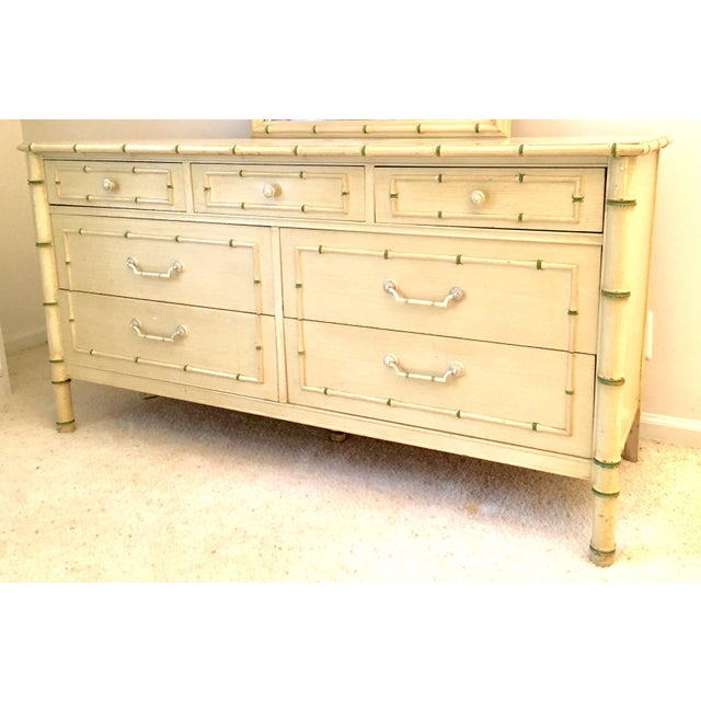 Thomasville Faux Bamboo Dresser. Palm Beach Regency. Bedside chest and mirror are available for purchase as well, so...
