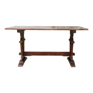 1960s Mission Style Oak Table For Sale
