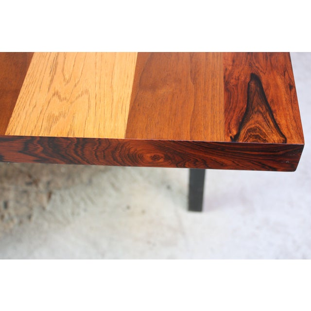 Directional Mixed-Wood Dining Table by Milo Baughman - Image 9 of 13