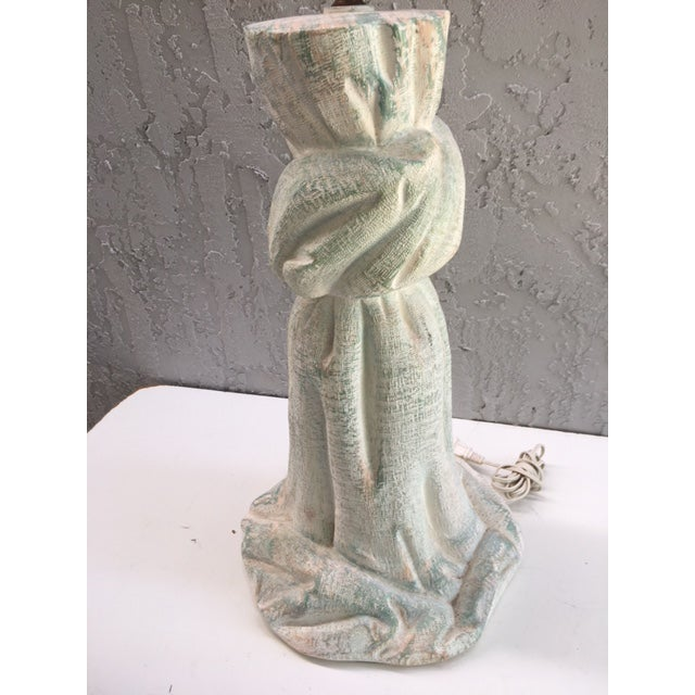 1980s Draped Plaster Lamp in the Manner of John Dickinson For Sale - Image 5 of 12