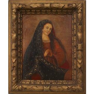 Spanish Renaissance Madonna Portrait For Sale