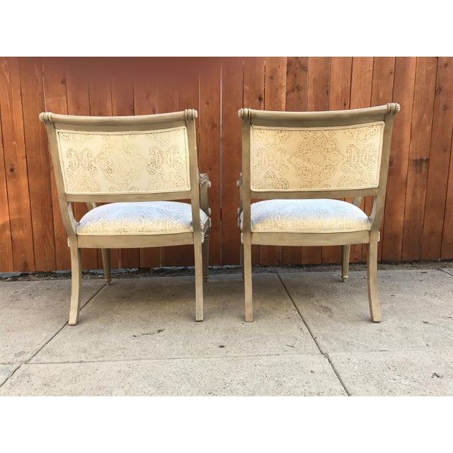 Kreiss Kreiss Collection Upholstered Chairs - A Pair For Sale - Image 4 of 8
