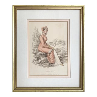"19th C Fashion Print ""Morning Dress"" For Sale"