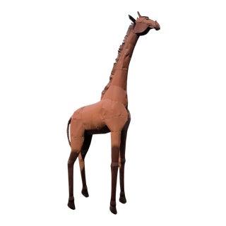 1990s Metal Giraffe Sculpture. For Sale