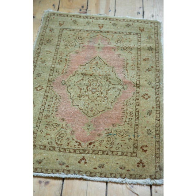 "Cotton Antique Distressed Jalili Tabriz Rug Mat - 1'10"" X 2'11"" For Sale - Image 7 of 9"
