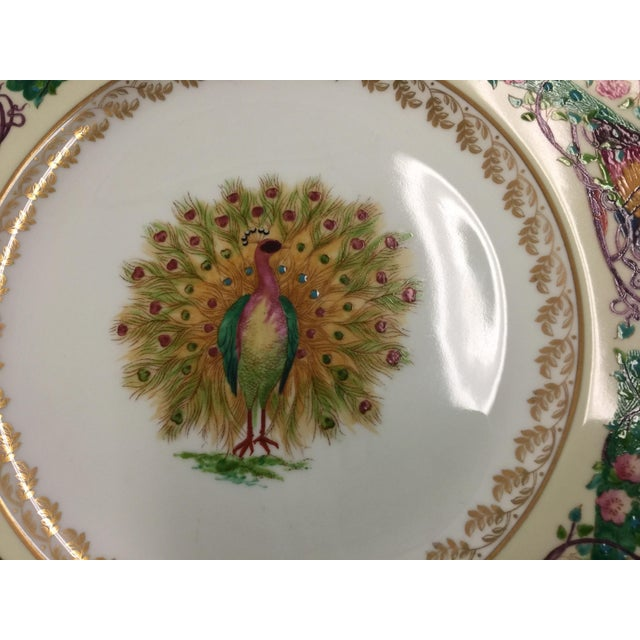 Ceramic 12 Wedgwood Peacock Plates Handpainted For Sale - Image 7 of 11