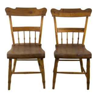Vintage Arts and Crafts Style Oak Chairs - a Pair