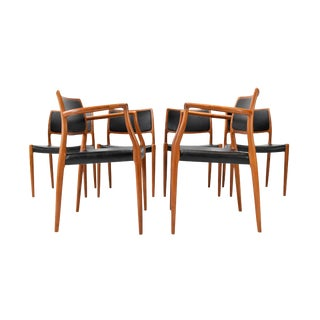 Niels Otto Møller for j.l. Møller Model 65/80 Teak Dining Chairs - Set of Six For Sale