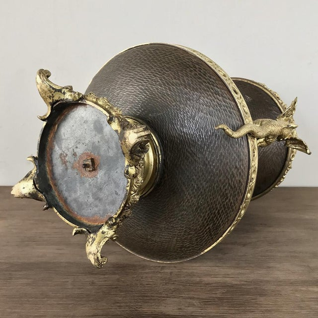 19th Century Napoleon III Period Bronze and Copper Centerpiece For Sale - Image 10 of 13