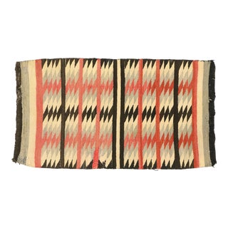 Vintage Native American Navajo Kilim Rug With Two Grey Hills Style - 02'02 X 03'11 For Sale