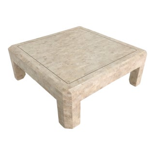 Art Deco Maitland Smith Tessellated Stone Coffee Table For Sale