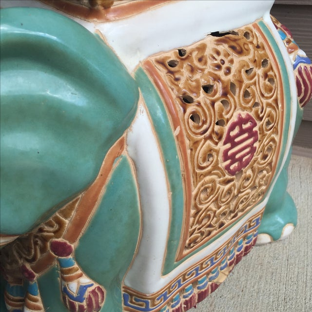 Chinoiserie Elephant Garden Stool For Sale - Image 5 of 8