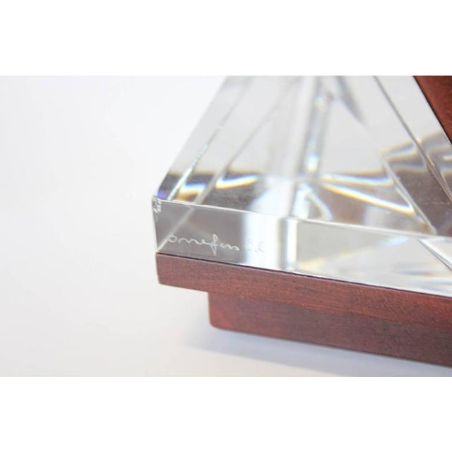 Swedish Mahogany & Orrefors Crystal Phone For Sale - Image 4 of 5