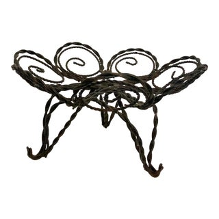 Vintage Footed Wire Bowl For Sale