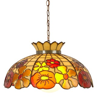 Large Mid Century Modern Flower Swag Lamp For Sale