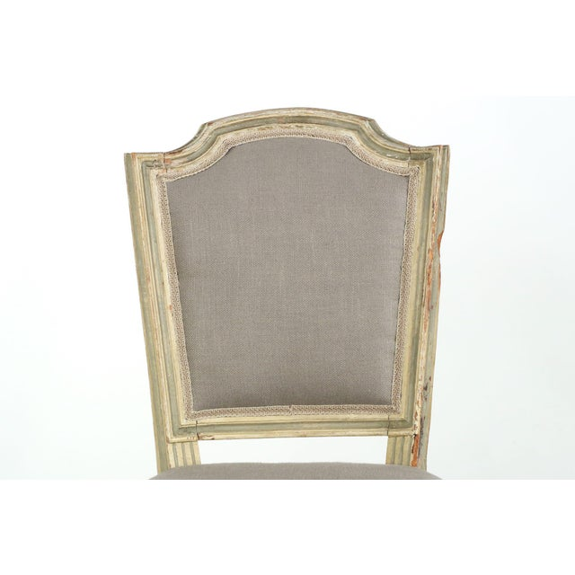 French Louis XVI Style Antique Dining Chairs - Set of 8 - Image 4 of 10