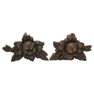 Antique Black Forest Carvings - a Pair For Sale
