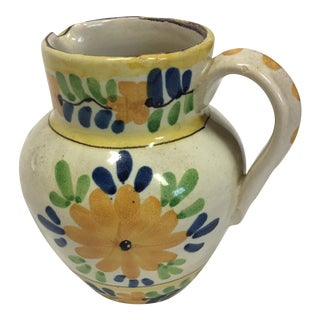 Ceramic Floral Pitcher