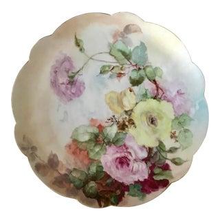 Vintage Large Hand Painted Floral Limoges Platter