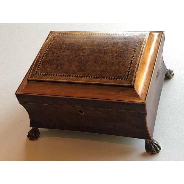 Regency Burr Yew Table Box For Sale - Image 9 of 12