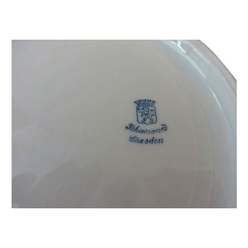 Antique Set of Dresden Plates - 8 For Sale In New York - Image 6 of 7