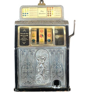 Antique 1920's Art Nouveau Slot Machine For Sale