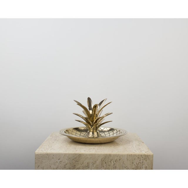 Brass Pineapple Candlestick Lamp Holder For Sale - Image 4 of 10