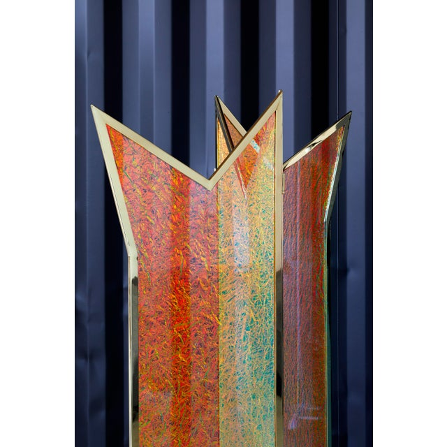 Troy Smith Designs Crazy Crown Screen/Room Divider by Artist Troy Smith - Contemporary Design - Artist Proof - Custom Furniture For Sale - Image 4 of 6
