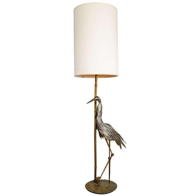 Luxury handmade stork floor lamp decaso mid century modern handmade stork floor lamp for sale image 3 of 3 aloadofball Image collections