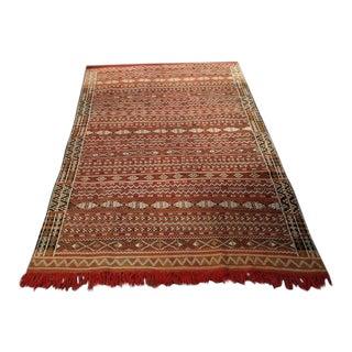 Traditional Hand Woven Moroccan Rug - 4′4″ × 6′4″