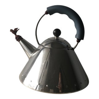 Michael Graves for Alessi Stainless Steel Bird Tea Kettle For Sale