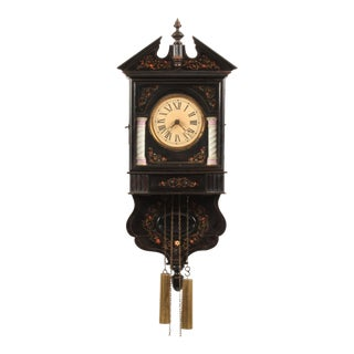 19th-C. French Wall Clock For Sale