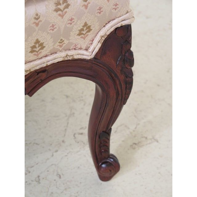 1990s Vintage Drexel Heritage French Louis XV Style Upholstered Chair For Sale In Philadelphia - Image 6 of 11