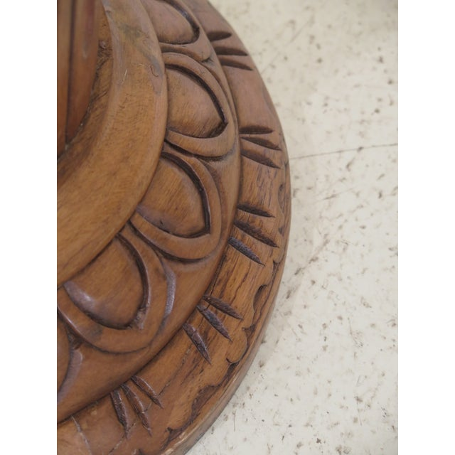 Marble Top Round Column Pedestal Stand For Sale - Image 4 of 6
