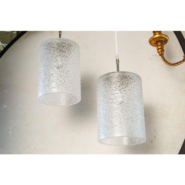 White Pair of Mid-Century Swedish Pendants For Sale - Image 8 of 8