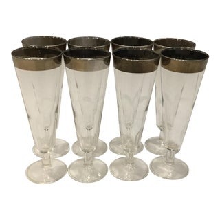 Mid Century Dorothy Thorpe Pilsners - Set of 8 For Sale
