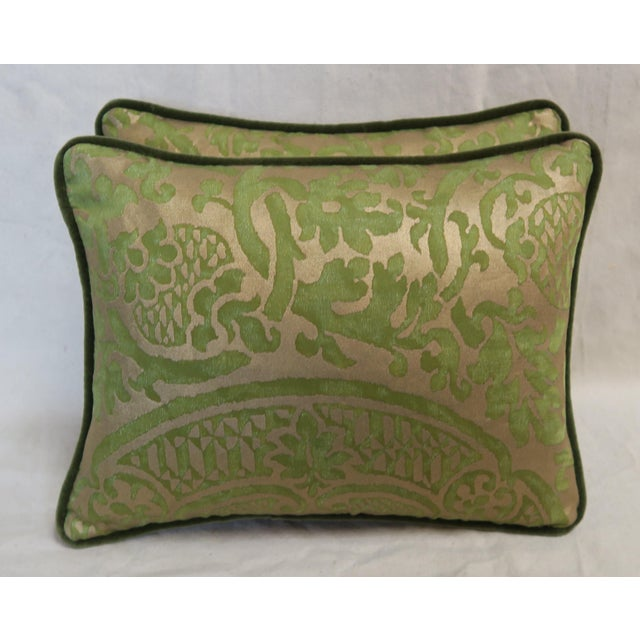 Green Pair of Green Orsini Fortuny Pillows For Sale - Image 8 of 8