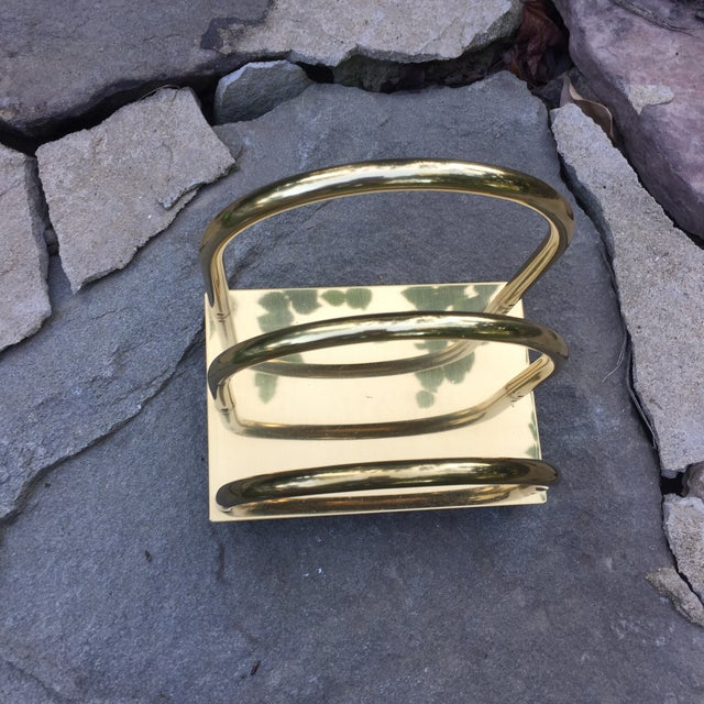 Vintage Brass Art Deco Mail Holder - Image 5 of 7