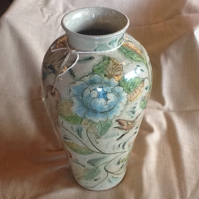 Mexican Ceramic Vase For Sale - Image 4 of 4