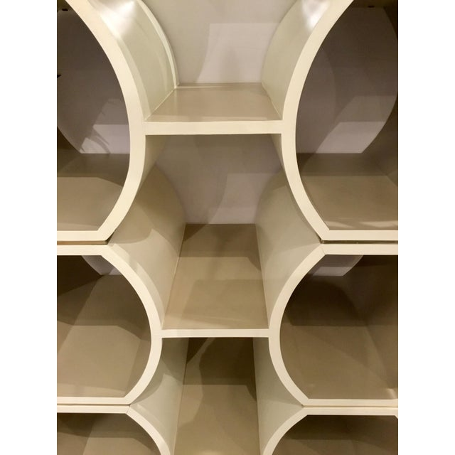 Modern Geometric Cappuccino Finished Pamela Bookcase For Sale - Image 4 of 5