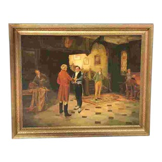 Early 20th C. German Interior Painting For Sale