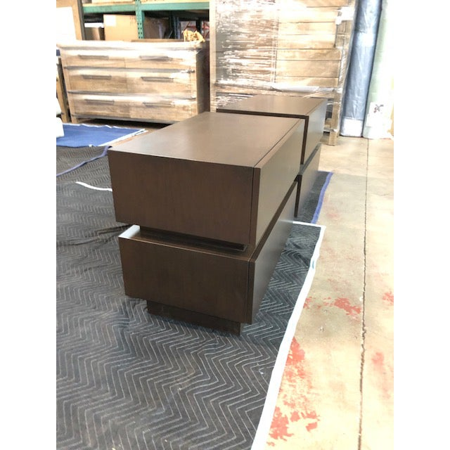 Lawson-Fenning Stacked Box Nightstands - A Pair For Sale - Image 4 of 5