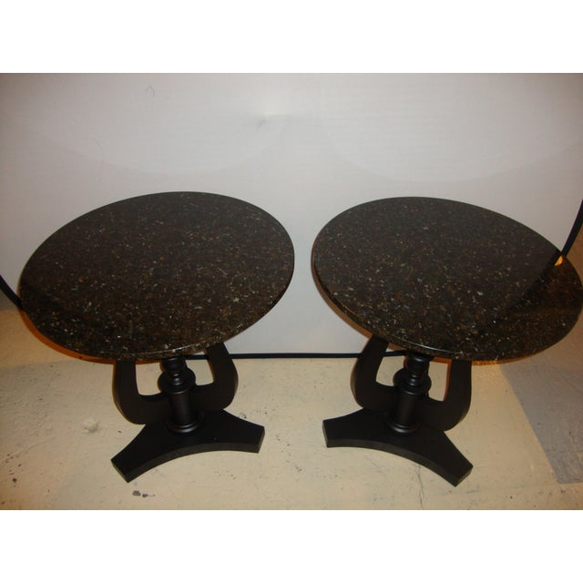 Art Deco Ebony Based End Tables - A Pair - Image 6 of 9