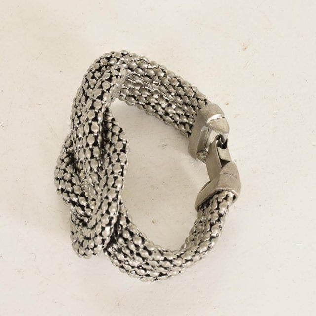 For your consideration, an Art Deco Period Sculptural Aluminum Braided Bracelet. Unmarked, no information on the maker....