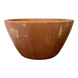 Vintage Shabby Chic Wooden Bowl For Sale