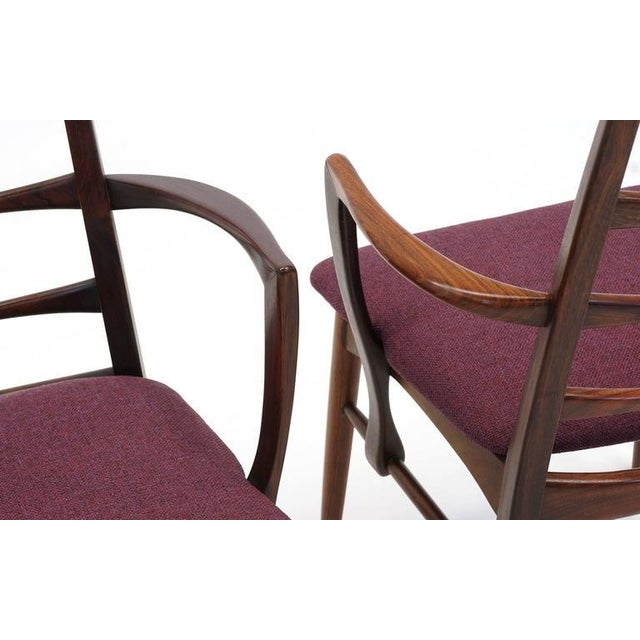 """Pair of Rosewood """"Lis"""" Dining Armchairs by Niels Koefoed for Koefoed Hornslet For Sale In Kansas City - Image 6 of 9"""