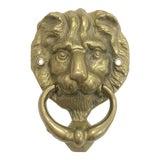 Image of Brass Lion Door Knocker For Sale
