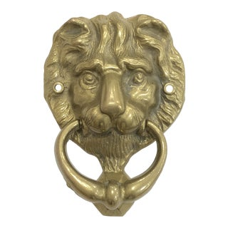 Brass Lion Door Knocker For Sale