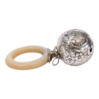 English Silver Baby Rattle