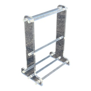 Vintage Lucite Standing Towel Rack For Sale